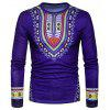 The New Spring Men Creative National 3D Long Sleeved T-Shirt - CADETBLUE
