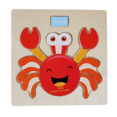 Wooden Stereoscopic Puzzle Crab