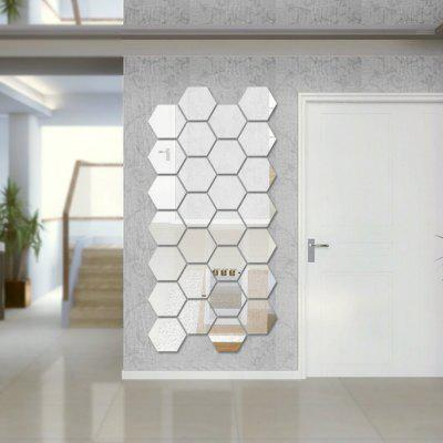 12 Pcs/Set Hexagon Mirror DIY Art Wall Home Decor Living Room Mirrored Decorative StickerWall Stickers<br>12 Pcs/Set Hexagon Mirror DIY Art Wall Home Decor Living Room Mirrored Decorative Sticker<br><br>Function: Decorative Wall Sticker, 3D Effect<br>Material: Acrylic<br>Package Contents: 12 x  Wall Sticker (Set)<br>Package size (L x W x H): 19.00 x 17.00 x 12.00 cm / 7.48 x 6.69 x 4.72 inches<br>Package weight: 0.0700 kg<br>Product weight: 0.0600 kg<br>Quantity: 1 Set<br>Subjects: Flower,3D,Fantasy<br>Suitable Space: Garden,Living Room,Bathroom,Office,Cafes,Kids Room<br>Type: Mirror Wall Sticker, 3D Wall Sticker