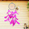 Jediný prsten Dream Catcher Feather Domácí auto Wall Hanging Decor - RůžOVý