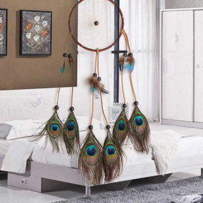 Handmade Elegant Peacock Dream Catcher Home Decor  Art  GiftCrafts<br>Handmade Elegant Peacock Dream Catcher Home Decor  Art  Gift<br><br>Package Contents: 1 x Dream Catcher<br>Package size (L x W x H): 25.00 x 20.00 x 18.00 cm / 9.84 x 7.87 x 7.09 inches<br>Package weight: 0.0500 kg<br>Product size (L x W x H): 50.00 x 13.00 x 1.00 cm / 19.69 x 5.12 x 0.39 inches<br>Product weight: 0.0400 kg
