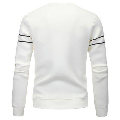 Fashion Printing All-Match Leisure SweatshirtMens Hoodies &amp; Sweatshirts<br>Fashion Printing All-Match Leisure Sweatshirt<br><br>Material: Cotton, Polyester<br>Package Contents: 1 x Sweatshirt<br>Shirt Length: Short<br>Sleeve Length: Full<br>Style: Casual<br>Weight: 0.5000kg