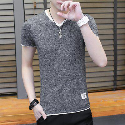 The Fashion Leisure All-Match Youth T-ShirtMens Short Sleeve Tees<br>The Fashion Leisure All-Match Youth T-Shirt<br><br>Collar: Round Neck<br>Material: Cotton, Polyester<br>Package Contents: 1 xT-shirt<br>Pattern Type: Others<br>Sleeve Length: Short Sleeves<br>Style: Casual<br>Weight: 0.3000kg