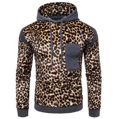 All-Match Leisure Leopard Print HoodieMens Hoodies &amp; Sweatshirts<br>All-Match Leisure Leopard Print Hoodie<br><br>Material: Cotton, Polyester<br>Package Contents: 1 x Hoodie<br>Shirt Length: Short<br>Sleeve Length: Full<br>Style: Casual<br>Weight: 0.5000kg