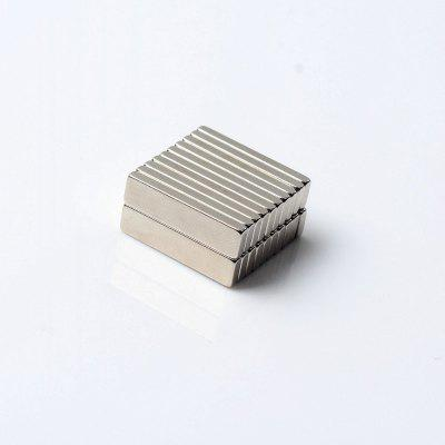 20Pcs Refrigerator Magnets Premium Brushed Nickel Office Magnets 20x5x2 mm