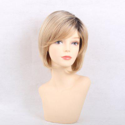 Fluffy Gradient Color Human Hair Wigs