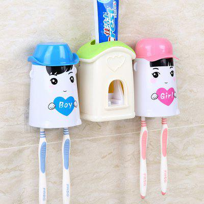 Wall Suction Toothpaste Toothpaste Automatic Toothpaste Couple Wash Sets