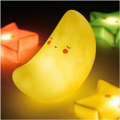 Vinyl Moon Shape Scrub Creative Night Light