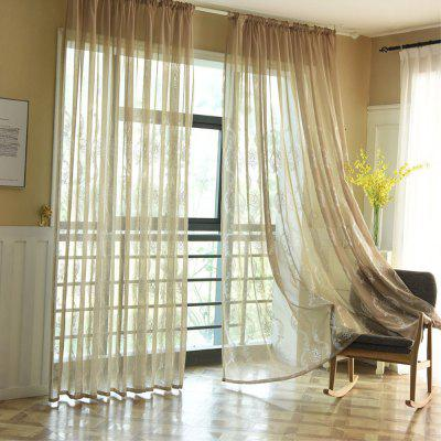 Embroidery Ingot Flowers Thin Section Screens Curtains
