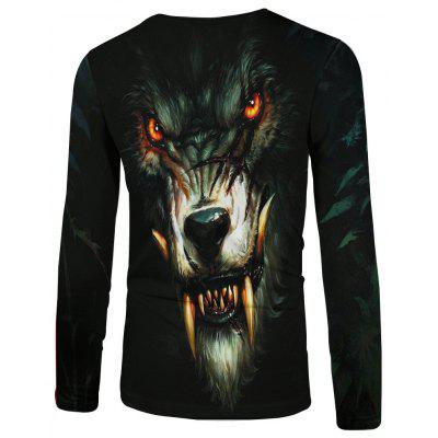 Hungry Wolf 3D Digital Printing Long Sleeve T-shirtMens Long Sleeves Tees<br>Hungry Wolf 3D Digital Printing Long Sleeve T-shirt<br><br>Collar: Round Neck<br>Embellishment: Vintage<br>Fabric Type: Broadcloth<br>Material: Cotton<br>Package Contents: 1 x T - shirt<br>Pattern Type: Animal<br>Sleeve Length: Full<br>Style: Fashion<br>Weight: 0.1900kg