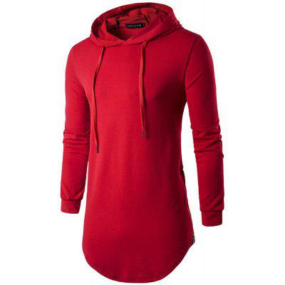 Spring Thin Solid Long Sweater HoodieMens Hoodies &amp; Sweatshirts<br>Spring Thin Solid Long Sweater Hoodie<br><br>Fabric Type: Broadcloth<br>Material: Cotton<br>Package Contents: 1 x Hoodie<br>Shirt Length: Long<br>Sleeve Length: Full<br>Style: Casual<br>Weight: 0.3300kg
