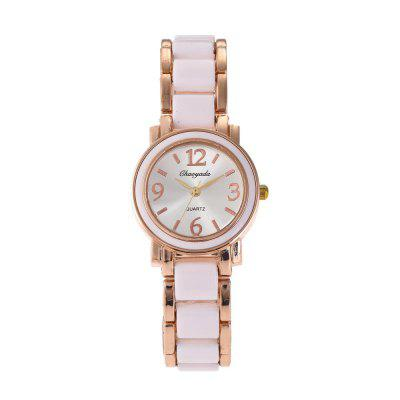 Chaoyada 8037 Elegant Round Dial Analog Women WatchWomens Watches<br>Chaoyada 8037 Elegant Round Dial Analog Women Watch<br><br>Band material: Zinc Alloy<br>Brand: Chaoyada<br>Case material: Zinc Alloy<br>Clasp type: Jewelry clasp<br>Display type: Analog<br>Movement type: Quartz watch<br>Package Contents: 1 x Watch<br>Package size (L x W x H): 8.50 x 8.50 x 5.30 cm / 3.35 x 3.35 x 2.09 inches<br>Package weight: 0.1130 kg<br>Product size (L x W x H): 19.00 x 3.70 x 0.90 cm / 7.48 x 1.46 x 0.35 inches<br>Product weight: 0.0480 kg<br>Shape of the dial: Round<br>Watch mirror: Mineral glass<br>Watch style: Classic, Lovely, Childlike, Wristband Style, Retro, Casual, Fashion, Business<br>Watches categories: Women,Female table<br>Water resistance: Life water resistant