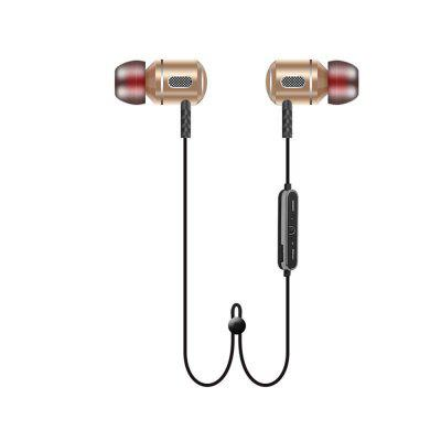 Metal Sports Bluetooth Headphone SweatProof Earphone Magnetic Earpiece Stereo for Mobile PhoneBluetooth Headphones<br>Metal Sports Bluetooth Headphone SweatProof Earphone Magnetic Earpiece Stereo for Mobile Phone<br><br>Audio: Stereo<br>Battery Capacity (mAh): 70mAh<br>Bluetooth mode: Headset<br>Bluetooth Version: 4.1<br>Chargeing Time: 1~2hour<br>Function: Support music, Song switch, Phone call answering, Multipoint connection<br>Package Contents: 1 x Bluetooth Earphone , 1 x USB Charging Cable , 1 x Earplugs , 1 x English and Chinese User manual<br>Package size (L x W x H): 11.50 x 11.50 x 4.50 cm / 4.53 x 4.53 x 1.77 inches<br>Package weight: 0.0850 kg<br>Transmission range: 10 meters<br>Usage mode: Earphone