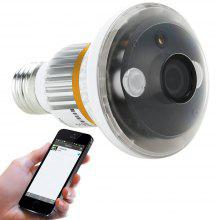 Wirelss Indoor Night Vision Bulb-shaped IP WIfi Camera