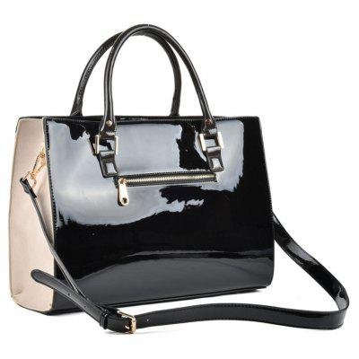 Womens Handbag Patchwork Trendy BagHandbags<br>Womens Handbag Patchwork Trendy Bag<br><br>Closure Type: Zipper<br>Embellishment: None<br>Exterior: Open Pocket<br>Gender: For Women<br>Handbag Type: Totes<br>Lining Material: PVC,PU<br>Main Material: PVC, PU<br>Number of Handles / Straps: Three<br>Package Contents: 1 x Hand Bag<br>Package size (L x W x H): 41.00 x 12.00 x 29.00 cm / 16.14 x 4.72 x 11.42 inches<br>Package weight: 1.3900 kg<br>Pattern Type: Geometric<br>Product size (L x W x H): 40.00 x 11.00 x 28.00 cm / 15.75 x 4.33 x 11.02 inches<br>Shape: Casual Tote<br>Style: Fashion