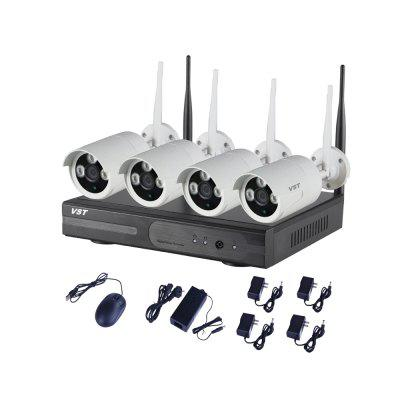 4CH 1080P Wifi NVR KIT 4CH IR Home Security Wifi Wireless IP Camera System 1080P Outdoor