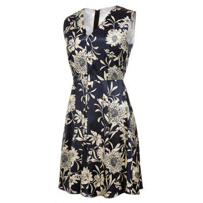 V-Neck Floral Print Sleeveless Slim DressWomens Dresses<br>V-Neck Floral Print Sleeveless Slim Dress<br><br>Dresses Length: Mid-Calf<br>Elasticity: Micro-elastic<br>Fabric Type: Satin<br>Material: Polyester<br>Neckline: V-Neck<br>Package Contents: 1xDress<br>Pattern Type: Plant<br>Season: Spring, Summer, Fall<br>Silhouette: Straight<br>Sleeve Length: Sleeveless<br>Style: Vintage<br>Weight: 0.3800kg<br>With Belt: No