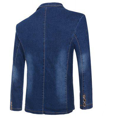 Mens Casual Fashion Cowboy JacketMens Jackets &amp; Coats<br>Mens Casual Fashion Cowboy Jacket<br><br>Closure Type: Single Breasted<br>Collar: V-Neck<br>Material: Jeans<br>Package Contents: 1 x Jacket<br>Shirt Length: Regular<br>Style: Punk<br>Thickness: Standard<br>Weight: 0.7000kg