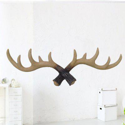 Home Furnishing002 Antlers Wall Hanger Decorative Coat HookCrafts<br>Home Furnishing002 Antlers Wall Hanger Decorative Coat Hook<br><br>Color: Others,Black<br>Material: Resin<br>Package Contents: 1 x Decorative Hanger<br>Package size (L x W x H): 58.00 x 24.00 x 15.00 cm / 22.83 x 9.45 x 5.91 inches<br>Package weight: 1.3000 kg<br>Product size (L x W x H): 50.00 x 17.00 x 8.00 cm / 19.69 x 6.69 x 3.15 inches<br>Product weight: 0.8000 kg<br>Subjects: Fashion,Others,Cartoon,Abstract,Botanical,Landscape,Architecture<br>Usage: Others, Party, Wedding, Birthday, Christmas, New Year