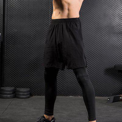 Mens Leggings Fake Two Fitness Exercise Casual Elastic Quick-Drying TrousersSport Clothing<br>Mens Leggings Fake Two Fitness Exercise Casual Elastic Quick-Drying Trousers<br><br>Material: Polyester, Spandex<br>Package Contents: 1 x Pants<br>Pattern Type: Solid<br>Weight: 0.2600kg