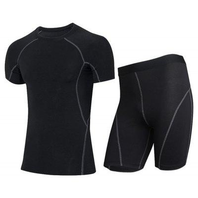 Men's Sweat-Dry Short Sleeve  T-Shirt and Shorts Suit