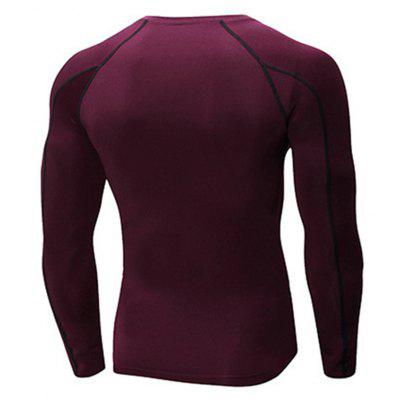 Mens Stretch Tight-Fitting Long-Sleeved T-ShirtSport Clothing<br>Mens Stretch Tight-Fitting Long-Sleeved T-Shirt<br><br>Material: Polyester, Spandex<br>Package Contents: 1 x T-shirt<br>Pattern Type: Solid<br>Weight: 0.1900kg