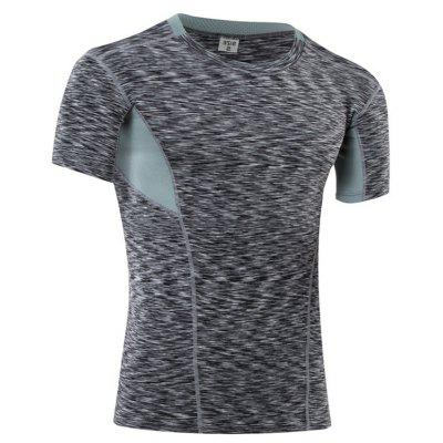 Mens  Sports Fitness  Quick-Drying Short-Sleeved Stretch Compression T-ShirtSport Clothing<br>Mens  Sports Fitness  Quick-Drying Short-Sleeved Stretch Compression T-Shirt<br><br>Material: Polyester, Spandex<br>Package Contents: 1 x T-shirt<br>Pattern Type: Patchwork<br>Weight: 0.1500kg