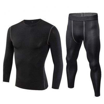 Men's Tight Training Sports Suit Perspiration Quick-Drying T-Shirt and Pants