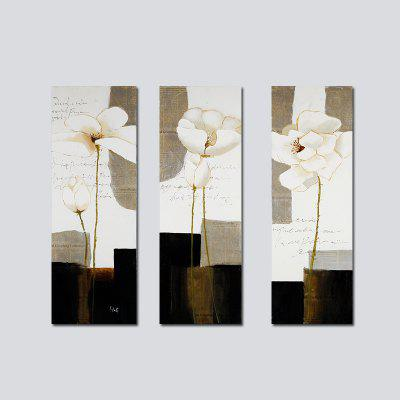 QiaoJiaHuaYuan No Frame Canvas Modern Simple Living Room Bedroom Decoration Hanging Painting Abstract three - linked Pai