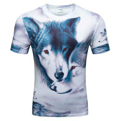 Short-Sleeved Fashion T-Shirt for MenMens Short Sleeve Tees<br>Short-Sleeved Fashion T-Shirt for Men<br><br>Collar: Round Neck<br>Embellishment: Pattern<br>Material: Polyester, Spandex<br>Package Contents: 1xT-shirt<br>Pattern Type: Print<br>Sleeve Length: Short Sleeves<br>Style: Casual<br>Weight: 0.2000kg