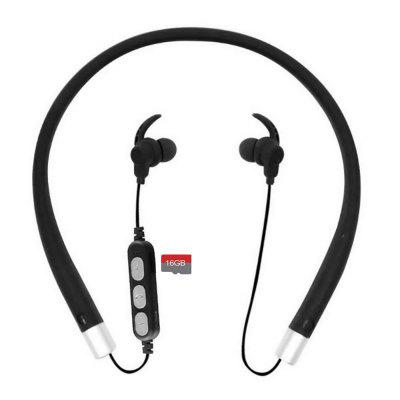 Cwxuan Bluetooth V4.2 Stereo Earphone, Neckband Headphone with Microphone, TF Slot for Cell Phones