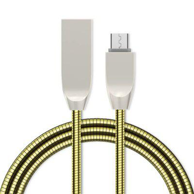 1M 2.4A Fast Charger Zinc Alloy Micro USB Cable for Samsung / Xiaomi / Huawei