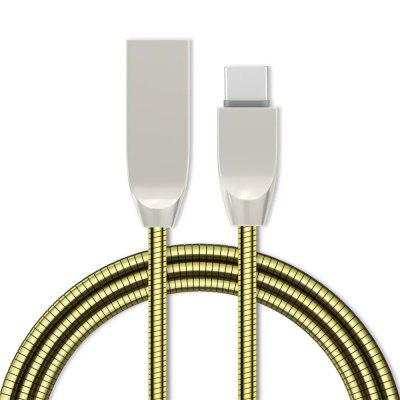 1M 2.4A Fast Charger Zinc Alloy Type-C USB Cable