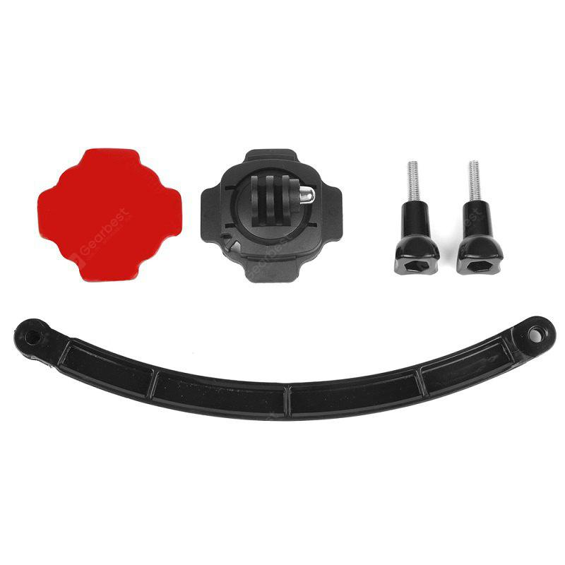 Motorcycle Cycling Helmet Extension Arm 360 Rotation Mount Base Kit for Camera GoPro Hero 6/5S/5/4/3+/3/2/1