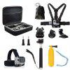 Accessories Set Camera Mount Kit for GoPro Hero 6/5S/5/4/3+/3/2/1 - BLACK