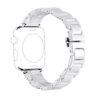 Ceramic Bracelet Wrist Band with Metal Clasp for Apple Watch Series 3 / 2 / 1 42MM