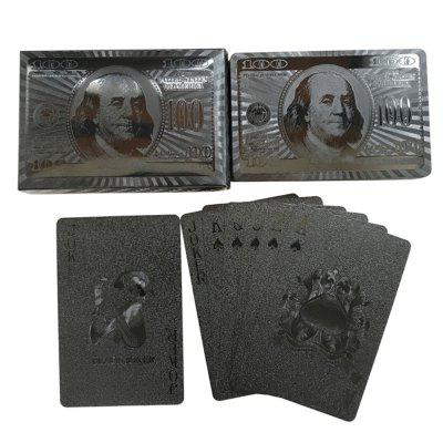 PVC Devil Black Dollar Pattern Poker Embossed Playing Cards