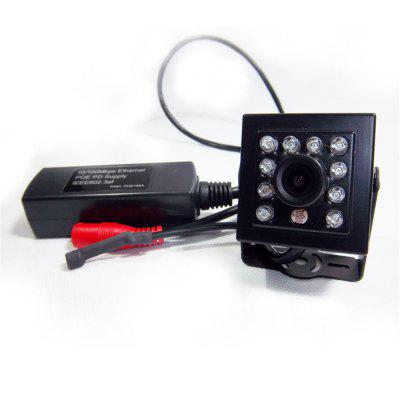 1080P Audio IR CUT Mini IR Camera POE IP Smallest Night Vision Network 940NM LED 3.6MM Lens With External POE Securiy