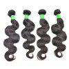 Brazilian Body Wave Extensiones de cabello humano real sin procesar Natural Black Color y Virgin Paquete de tres paquetes - NEGRO