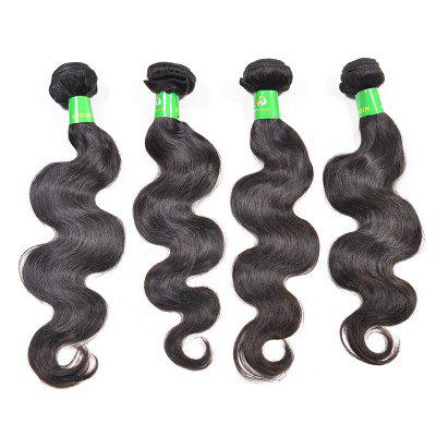 3pcs Brazilian Body Wave Unprocessed Extensões reais de cabelo humano Natural Black Color e Virgin 18 20 22 polegadas