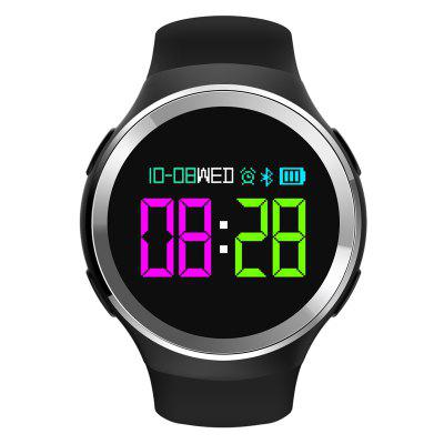 K18 Smart Watch IP68 Waterproof Heart Rate Monitor Fitness Tracker Pedometer Smartwatch with OLED ScreenSmart Watches<br>K18 Smart Watch IP68 Waterproof Heart Rate Monitor Fitness Tracker Pedometer Smartwatch with OLED Screen<br><br>Alert type: Vibration<br>Band material: TPU<br>Battery  Capacity: 230mAh<br>Bluetooth Version: Bluetooth 4.0<br>Case material: Alloy<br>Charging Time: About 60mins<br>Compatible OS: IOS, Android<br>IP rating: IP68<br>Language: English,French,Spanish,Portuguese,Russian,German,Italian,Japanese,Korean<br>Operating mode: Touch Screen<br>Package Contents: 1 x Smartwatch, 1 x USB Cable ,1 x English and Chinese Instruction<br>Package size (L x W x H): 10.00 x 8.00 x 6.00 cm / 3.94 x 3.15 x 2.36 inches<br>Package weight: 0.1800 kg<br>People: Male table,Female table<br>Product weight: 0.1200 kg<br>Screen: OLED<br>Shape of the dial: Round<br>Standby time: 30 Days