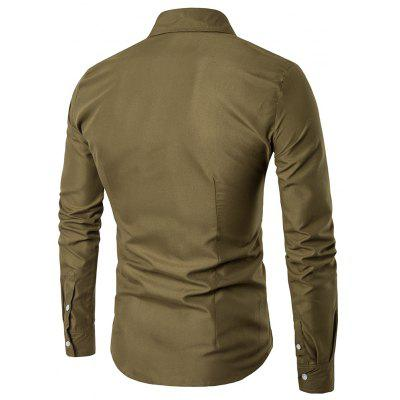 Solid Color Long-Sleeved ShirtMens Shirts<br>Solid Color Long-Sleeved Shirt<br><br>Collar: Turn-down Collar<br>Material: Cotton Blends<br>Package Contents: 1 X Shirts<br>Shirts Type: Casual Shirts<br>Sleeve Length: Full<br>Weight: 0.4200kg