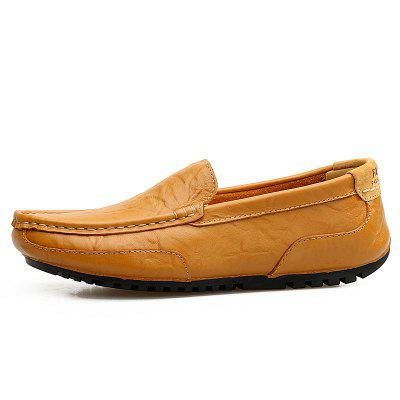 Fashion Lazy Leather Peas ShoesFashion Lazy Leather Peas Shoes<br><br>Available Size: 39-44<br>Closure Type: Slip-On<br>Embellishment: None<br>Gender: For Men<br>Occasion: Formal<br>Outsole Material: Rubber<br>Package Contents: 1 x Shoes (pair)<br>Pattern Type: Solid<br>Season: Spring/Fall<br>Toe Shape: Round Toe<br>Toe Style: Closed Toe<br>Upper Material: Full Grain Leather<br>Weight: 1.2000kg