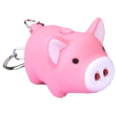 Cute Little Fat Pig Hair Sound Key Chain Animal Ornaments