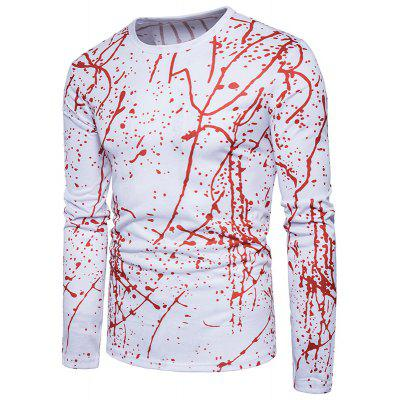 New Abstract Personality 3D Twigs Long Sleeve T-Shirts