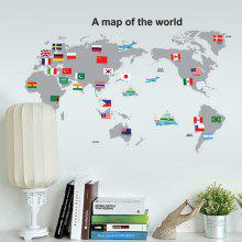 World map wall sticker best deals online shopping gearbest 0off world map wall stickers for kids rooms living room home decorations decal mural gumiabroncs Choice Image