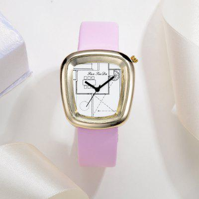 Fanteeda FD006 Women Unique Dial Leather Band Quartz Watch Golden ToneWomens Watches<br>Fanteeda FD006 Women Unique Dial Leather Band Quartz Watch Golden Tone<br><br>Band material: PU Leather<br>Band size: 23.5 x 1.8 CM<br>Case material: Alloy<br>Clasp type: Pin buckle<br>Dial size: 3.2 x 3.5 x 0.9 CM<br>Display type: Analog<br>Movement type: Quartz watch<br>Package Contents: 1 x Watch<br>Package size (L x W x H): 26.00 x 5.00 x 1.00 cm / 10.24 x 1.97 x 0.39 inches<br>Package weight: 0.0390 kg<br>Product size (L x W x H): 23.50 x 3.20 x 0.90 cm / 9.25 x 1.26 x 0.35 inches<br>Product weight: 0.0380 kg<br>Shape of the dial: Trapezoidal<br>Watch mirror: Mineral glass<br>Watch style: Fashion, Business, Retro, Lovely, Wristband Style, Jewellery, Casual<br>Watches categories: Women,Female table<br>Water resistance: No