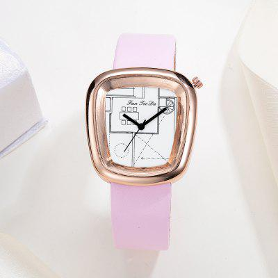 Fanteeda FD007 Women Unique Dial Leather Band Quartz Watch Rose Gold ToneWomens Watches<br>Fanteeda FD007 Women Unique Dial Leather Band Quartz Watch Rose Gold Tone<br><br>Band material: PU Leather<br>Band size: 23.5 x 1.8 CM<br>Case material: Alloy<br>Clasp type: Pin buckle<br>Dial size: 3.2 x 3.5 x 0.9 CM<br>Display type: Analog<br>Movement type: Quartz watch<br>Package Contents: 1 x Watch<br>Package size (L x W x H): 26.00 x 5.00 x 1.00 cm / 10.24 x 1.97 x 0.39 inches<br>Package weight: 0.0390 kg<br>Product size (L x W x H): 23.50 x 3.20 x 0.90 cm / 9.25 x 1.26 x 0.35 inches<br>Product weight: 0.0380 kg<br>Shape of the dial: Trapezoidal<br>Watch mirror: Mineral glass<br>Watch style: Fashion, Business, Retro, Lovely, Wristband Style, Jewellery, Casual<br>Watches categories: Women,Female table<br>Water resistance: Life water resistant