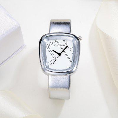 Fanteeda FD011 Women Silver Tone Unique Dial Leather Band Quartz WatchWomens Watches<br>Fanteeda FD011 Women Silver Tone Unique Dial Leather Band Quartz Watch<br><br>Band material: PU Leather<br>Band size: 23.5 x 1.8 CM<br>Case material: Alloy<br>Clasp type: Pin buckle<br>Dial size: 3.2 x 3.5 x 0.9 CM<br>Display type: Analog<br>Movement type: Quartz watch<br>Package Contents: 1 x Watch<br>Package size (L x W x H): 26.00 x 5.00 x 1.00 cm / 10.24 x 1.97 x 0.39 inches<br>Package weight: 0.0390 kg<br>Product size (L x W x H): 23.50 x 3.20 x 0.90 cm / 9.25 x 1.26 x 0.35 inches<br>Product weight: 0.0380 kg<br>Shape of the dial: Trapezoidal<br>Watch mirror: Mineral glass<br>Watch style: Fashion, Business, Retro, Lovely, Wristband Style, Jewellery, Casual<br>Watches categories: Women,Female table<br>Water resistance: No