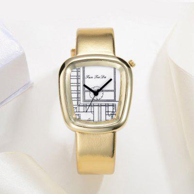 Fanteeda FD015 Women Unique Dial Leather Band Quartz WatchWomens Watches<br>Fanteeda FD015 Women Unique Dial Leather Band Quartz Watch<br><br>Band material: Leather<br>Band size: 23.5 x 1.8 CM<br>Case material: Alloy<br>Clasp type: Pin buckle<br>Dial size: 3.2 x 3.5 x 0.9 CM<br>Display type: Analog<br>Movement type: Quartz watch<br>Package Contents: 1 x Watch<br>Package size (L x W x H): 26.00 x 5.00 x 1.00 cm / 10.24 x 1.97 x 0.39 inches<br>Package weight: 0.0390 kg<br>Product size (L x W x H): 23.50 x 3.20 x 0.90 cm / 9.25 x 1.26 x 0.35 inches<br>Product weight: 0.0380 kg<br>Shape of the dial: Trapezoidal<br>Watch mirror: Mineral glass<br>Watch style: Fashion, Business, Retro, Lovely, Wristband Style, Jewellery, Casual<br>Watches categories: Women,Female table<br>Water resistance: No